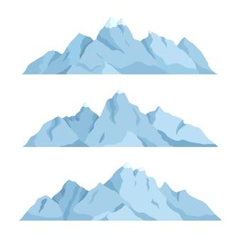 Platte grote berg set