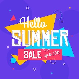 Platte hallo zomerverkoop