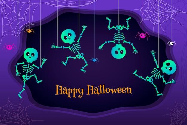 Platte halloween achtergrond concept