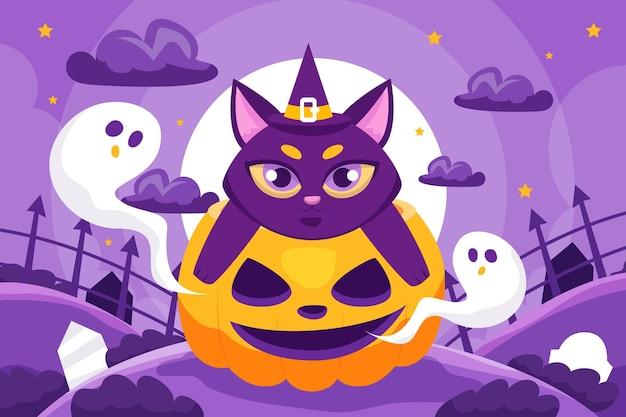 Platte halloween-achtergrond
