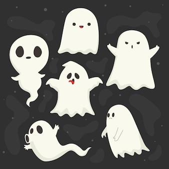 Platte halloween geest collectie