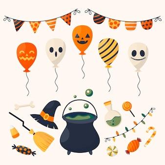 Platte halloween ornamenten collectie