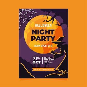 Platte halloween party poster
