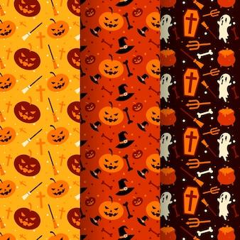 Platte halloween patronen concept