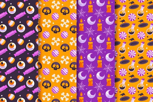 Platte halloween-patronen