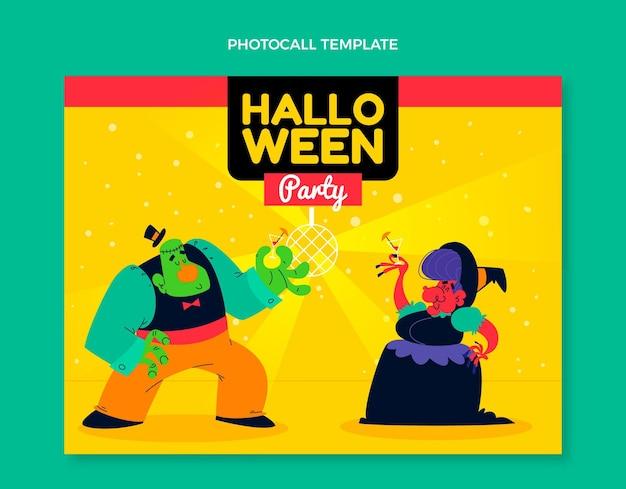 Platte halloween photocall-sjabloon