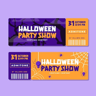 Platte halloween tickets set