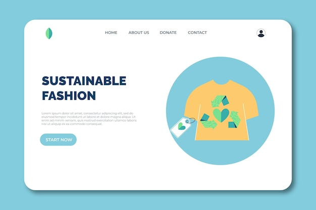 Platte handgetekende duurzame mode-bestemmingspagina