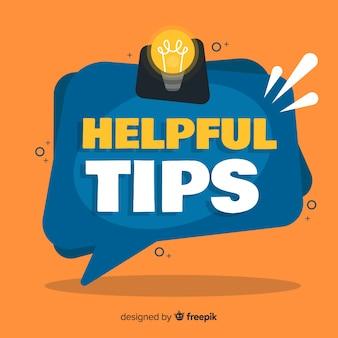 Platte handige tips achtergrond