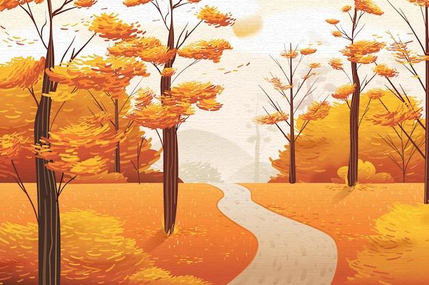 Platte herfst achtergrond concept
