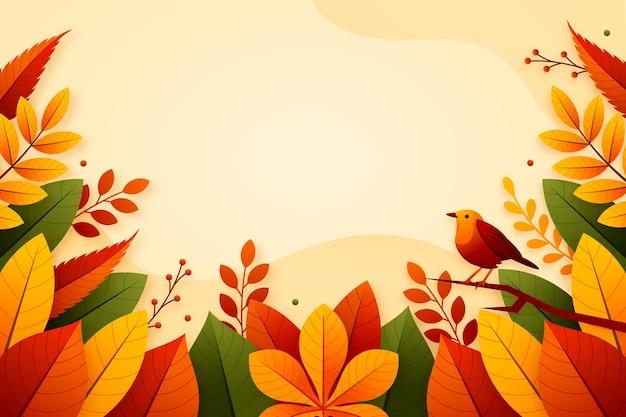 Platte herfst achtergrond