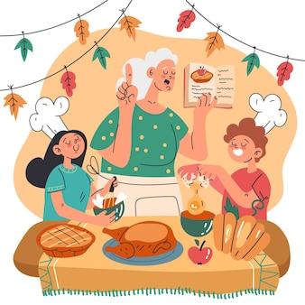 Platte herfst kinderen koken