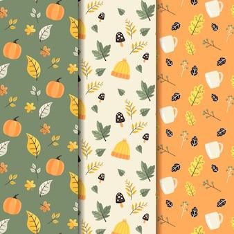 Platte herfst patroon collectie