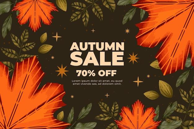 Platte herfst verkoop achtergrond