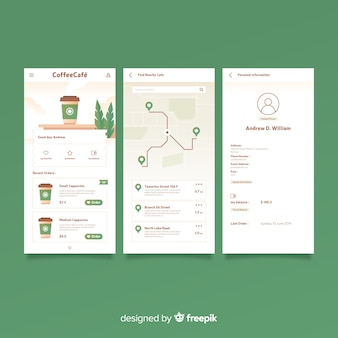 Platte hoes voor mobiele app