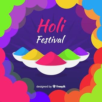 Platte holi festival achtergrond