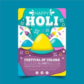 Platte holi festival flyer