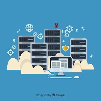 Platte hosting service achtergrond