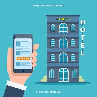 Platte hotel boeking applicatie achtergrond