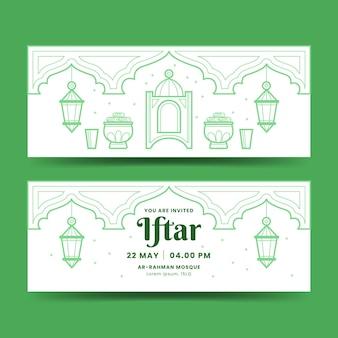 Platte iftar-bannerset