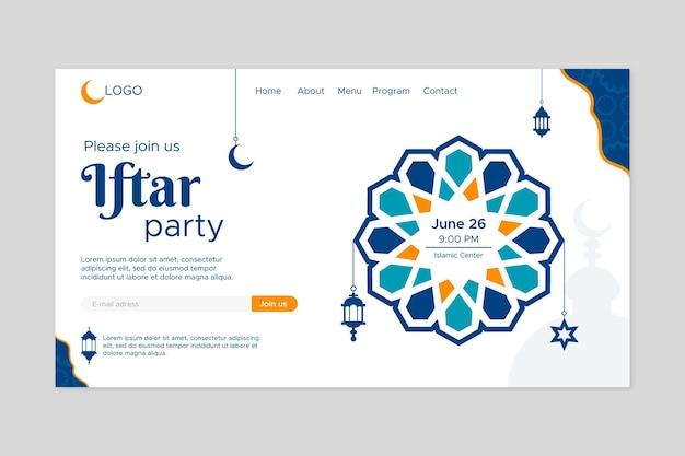 Platte iftar-partij-bestemmingspagina
