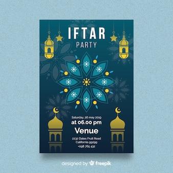 Platte iftar-uitnodiging