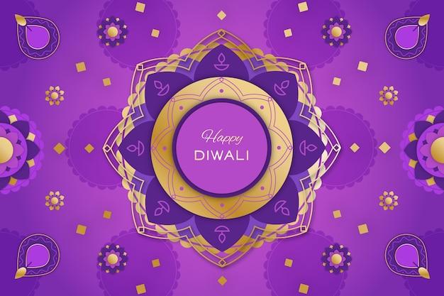 Platte illustraties diwali-viering