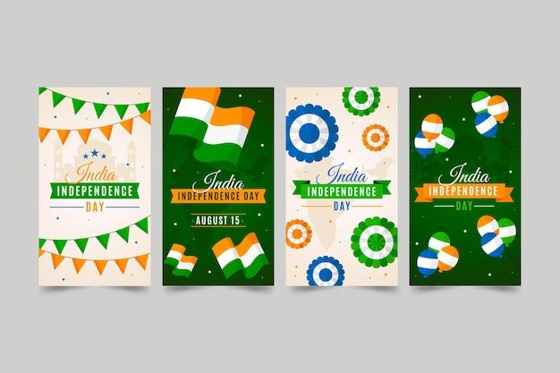 Platte india onafhankelijkheidsdag instagram verhalencollectie