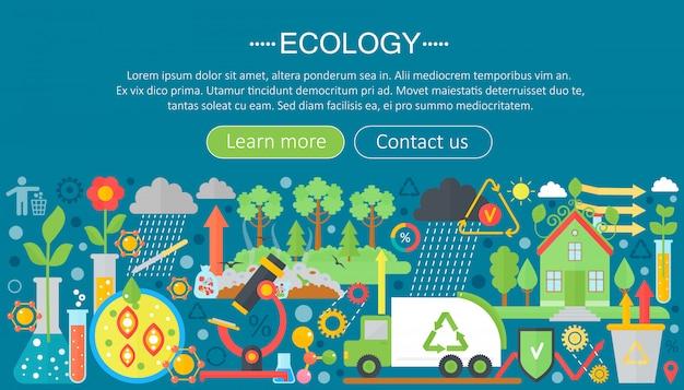 Platte infographic ecologie concept