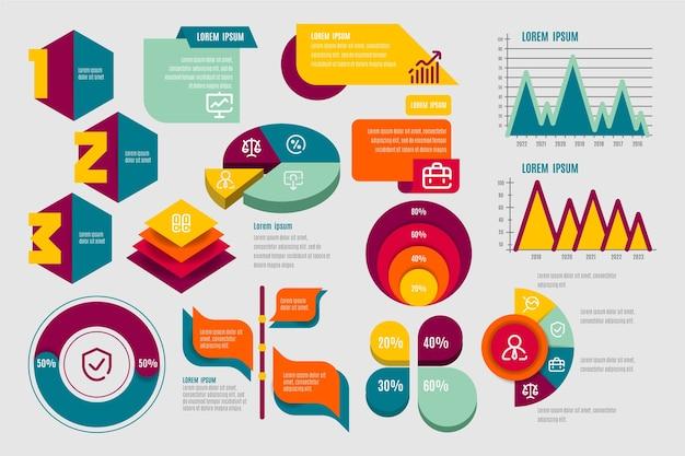 Platte infographic elementen sjabloon