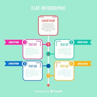 Platte infographics achtergrond