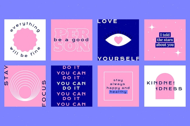 Platte inspirerende citaten instagram-berichten