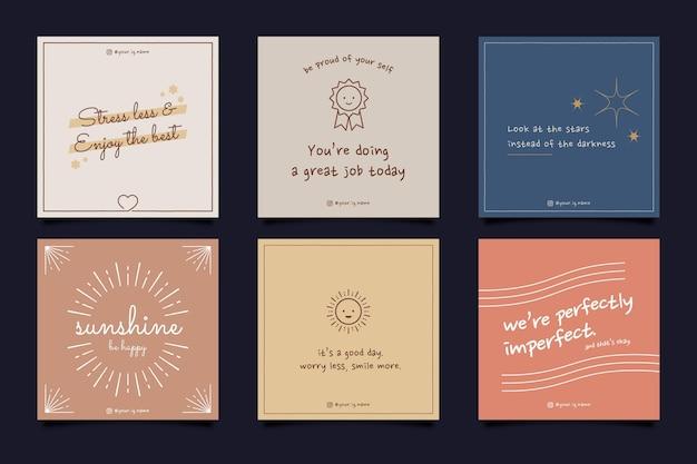Platte inspirerende citaten instagram postverzameling
