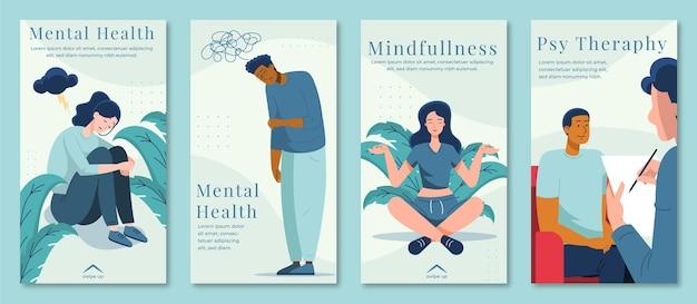Platte instagramverhalen over geestelijke gezondheid