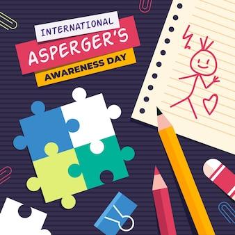 Platte internationale asperger's bewustmakingsdag