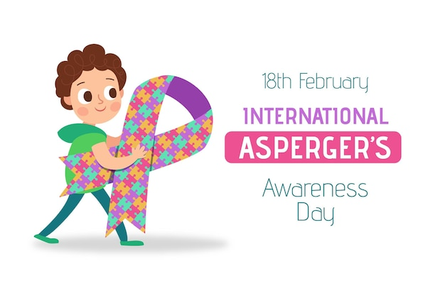 Platte internationale bewustmakingsdag van asperger