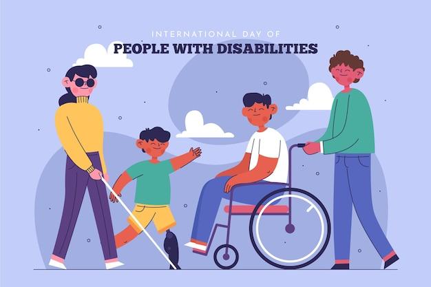 Platte internationale dag van mensen met een handicap