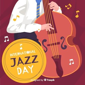 Platte internationale jazz-dag achtergrond