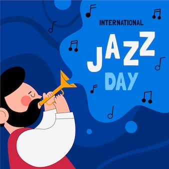 Platte internationale jazzdag illustratie