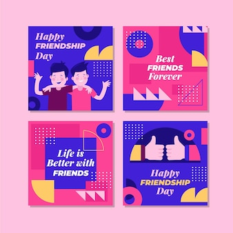 Platte internationale vriendschapsdag instagram posts-collectie