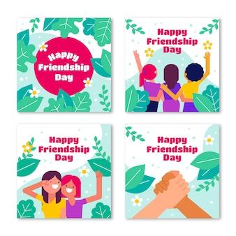 Platte internationale vriendschapsdag instagram posts collectie