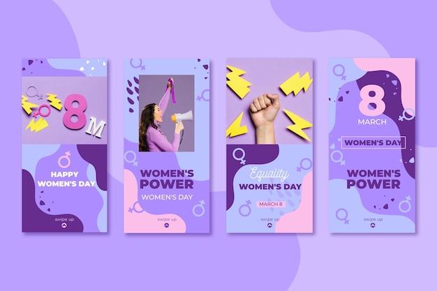 Platte internationale vrouwendag instagram verhalencollectie