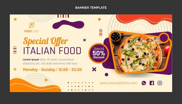 Platte italiaans eten verkoop achtergrond