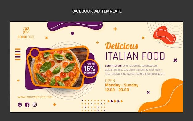 Platte italiaanse promosjabloon voor sociale media