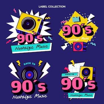Platte jaren 90 nostalgische muziekfestivallabels