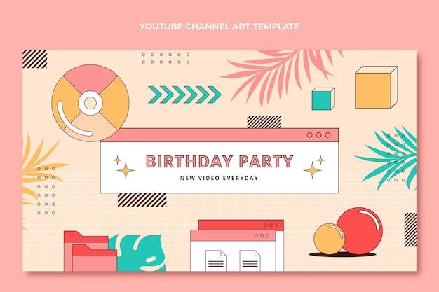 Platte jaren 90 nostalgische verjaardag youtube channel art