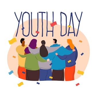 Platte jeugd dag ontwerpconcept