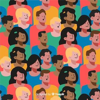 Platte jongeren patroon achtergrond