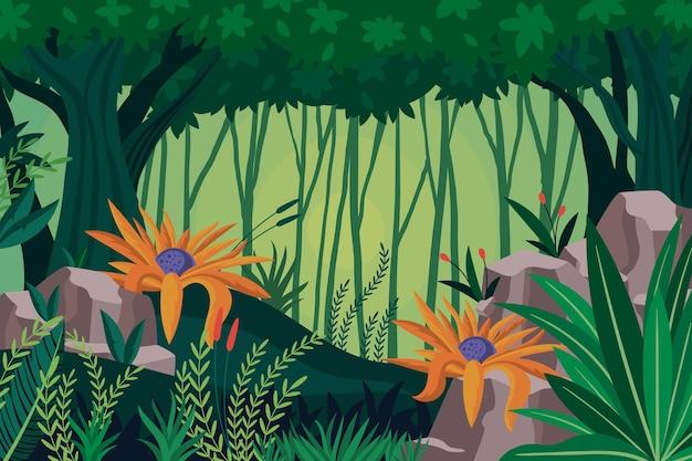 Platte jungle achtergrond