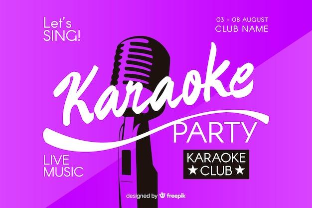 Platte karaoke partij sjabloon voor spandoek